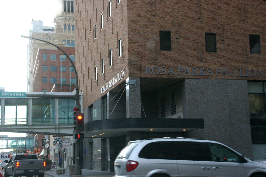 Downtown: the Rosa Parks Pavilion. I have no idea what is housed here.