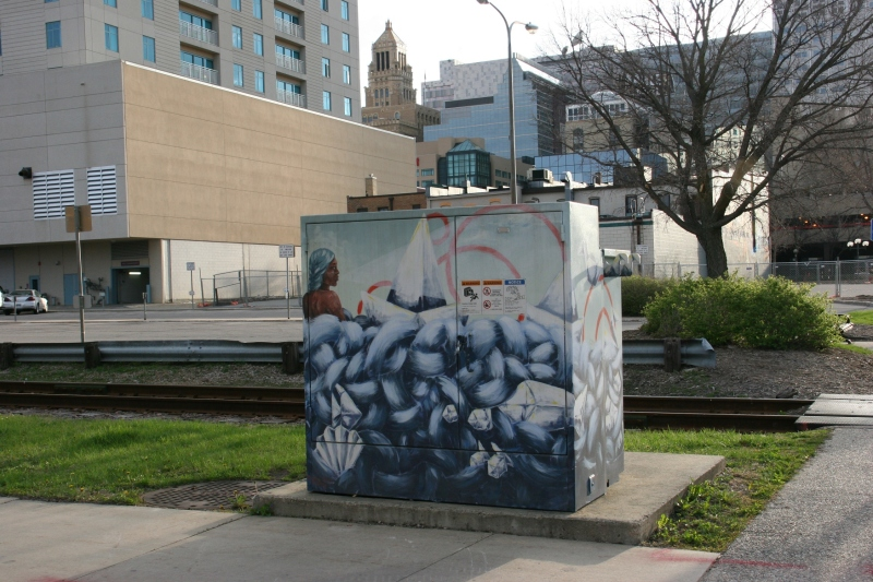 A great idea for turning an otherwise mundane utility box into a work of art.