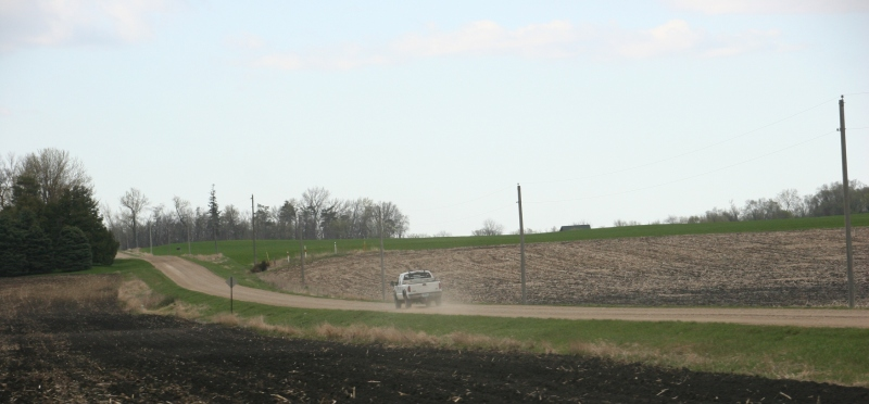 A scene photographed from Rice County Road 15 between Faribault and Morristown, Minnesota.