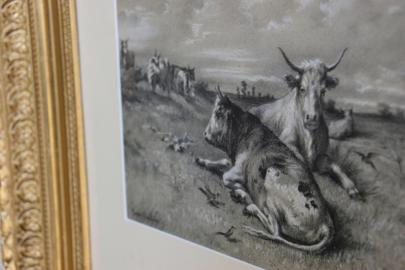 "Rosa Bonheur's ""Cows in Pasture."""