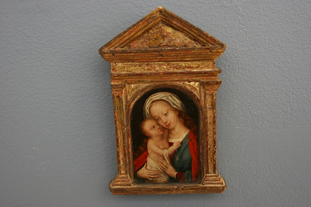 "The 16th Century ""Madonna and Child, an oil painting on panel by Adriaen Isenbrandt of Belgium."