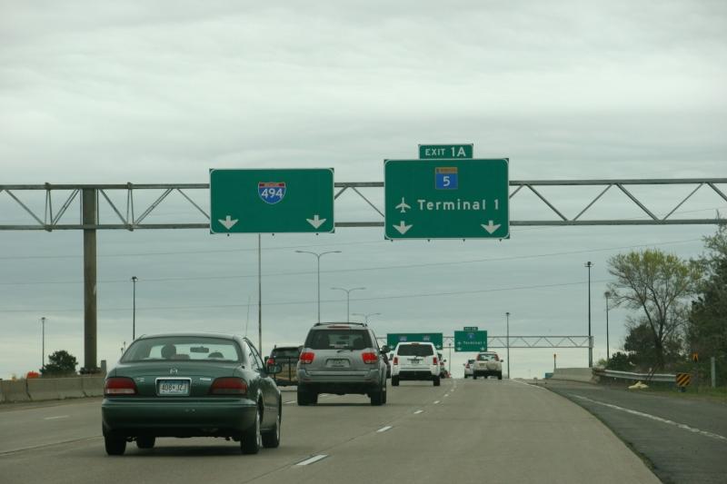 Airport, terminal 1 sign