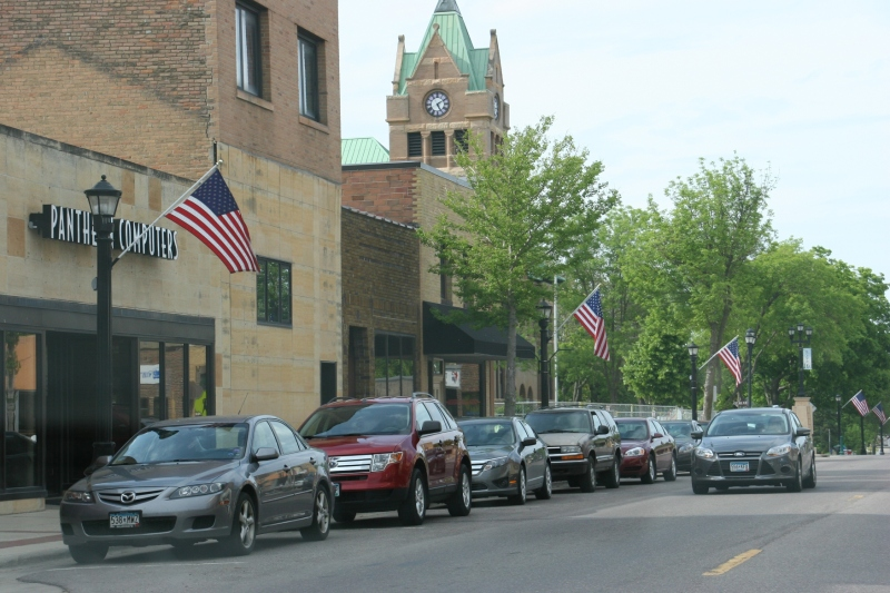 Downtown Waseca, Minnesota, on Memorial Day weekend.