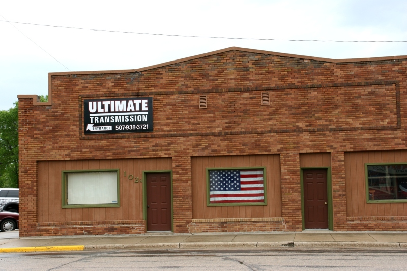 A business in downtown Belview, Minnesota.