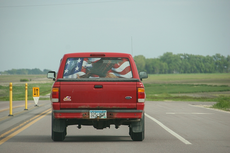 Driving eastbound on U.S. Highway 14 between Nicollet and Mankato.