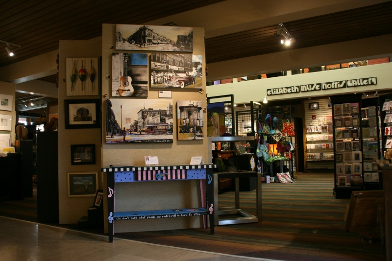 The arts center galleries showcase an abundance and variety of outstanding art.