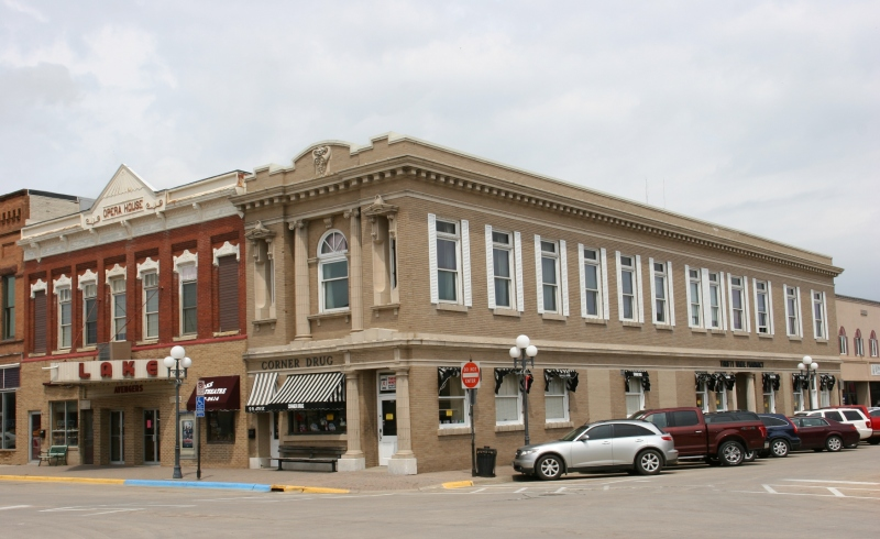 Downtown Clear Lake features interesting historical architecture.