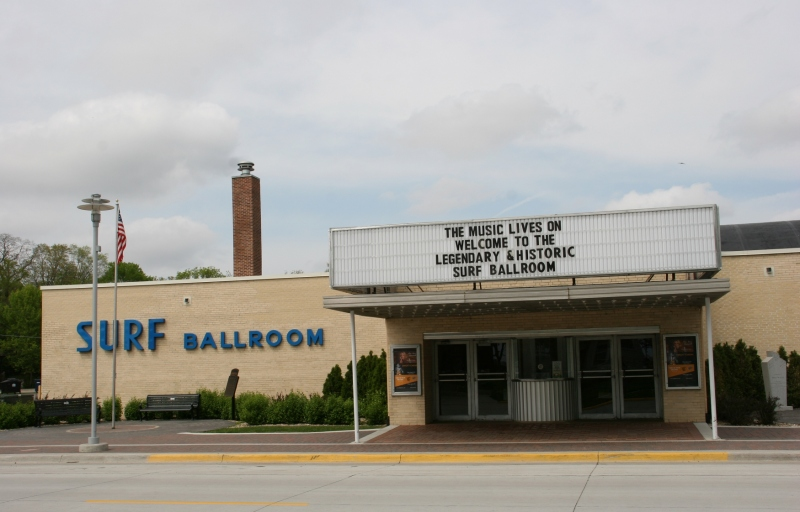 The Surf Ballroom draws musicians and music lovers from all over. It is the final venue played by Buddy Holly,