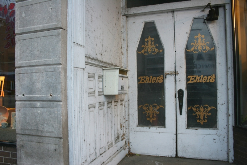 I assume these doors once opened to an Ehlers Department Store.