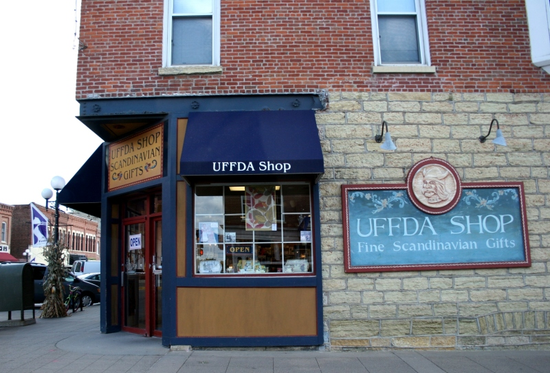 There are lots of shops in downtown Red Wing, including this Uffa Shop.