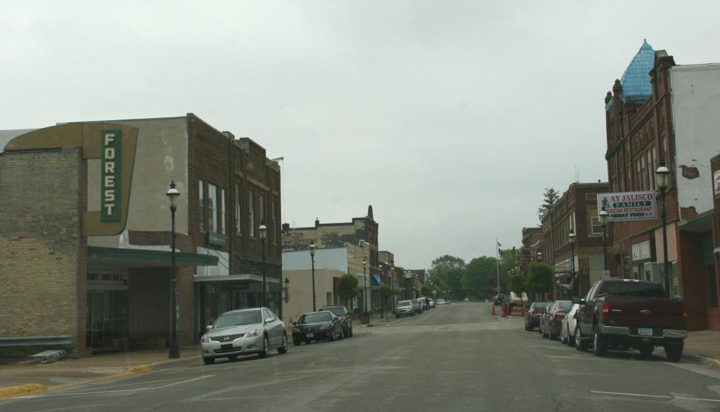 Downtown Forest City, Iowa.