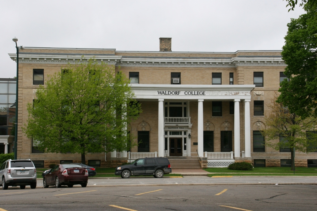 Waldorf College is located in Forest City with this building directly across the street from the Winnebago County Courthouse.