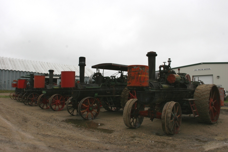 Steam engine tractors.