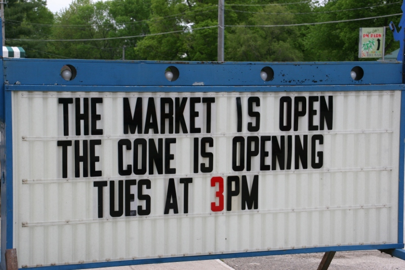We were just a few days too early for the seasonal opening of the South Shore Sweet Spot.