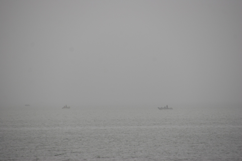 The Walleye Classic opened Saturday morning under foggy skies.