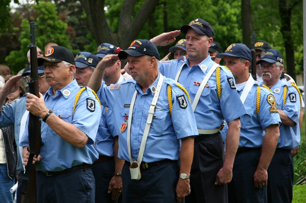 The Color Guard is an important part of the day's events.