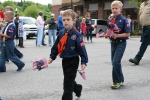 Memorial Day, Cub Scouts withflags