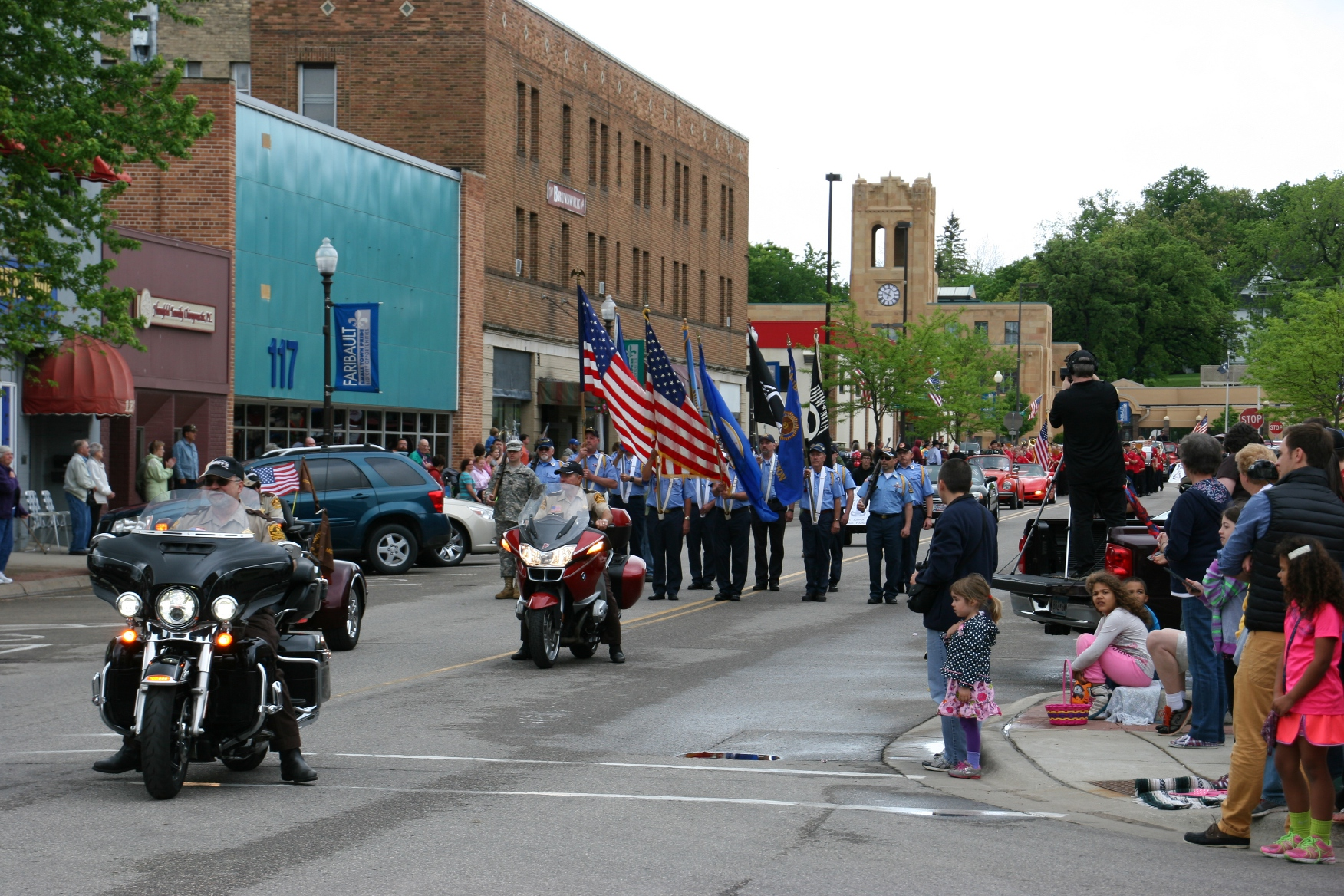 a photo essay celebrating memorial day in faribault minnesota the color guard always leads the parade