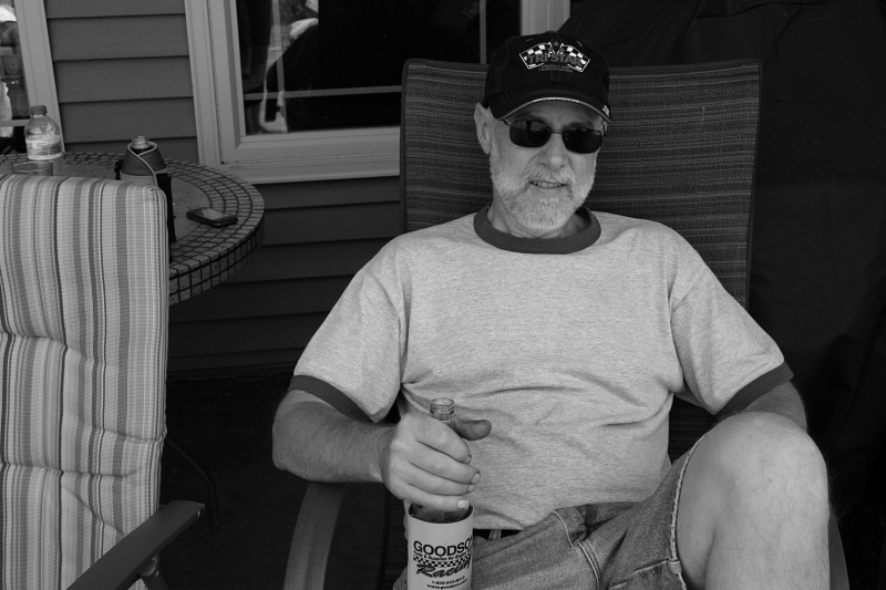 Randy relaxes at a family gathering in 2012.