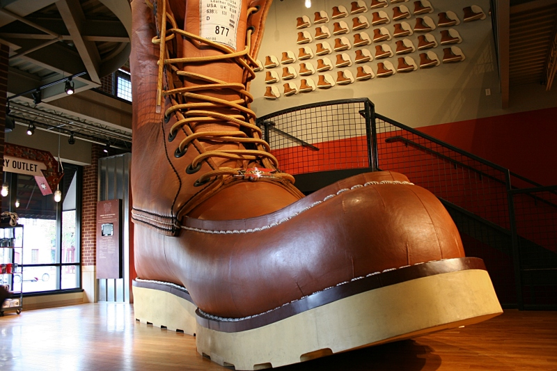 Step inside the Red Wing Shoe Store