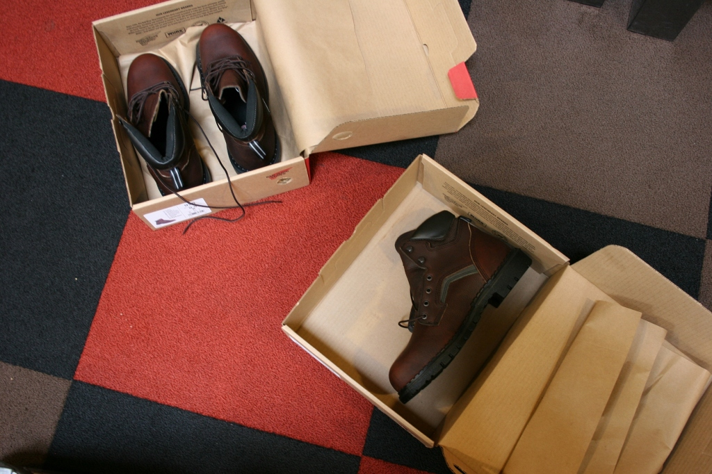 The search began for the right boots.