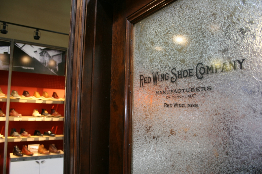 A lovely old door in the shoe store.