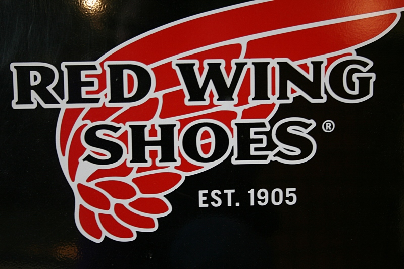 The iconic Red Wing shoe logo.