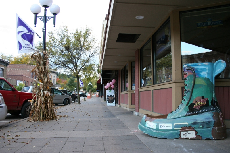 Red Wing boot sculptures can be seen in downtown Red Wing.