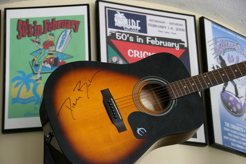 You'll spot numerous signed guitars on display.