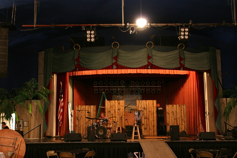 The ballroom stage.