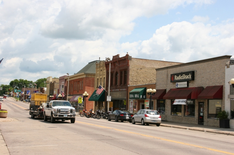 New Prague has a definite advantage over many other communities as a major state highway runs right through the downtown business district.