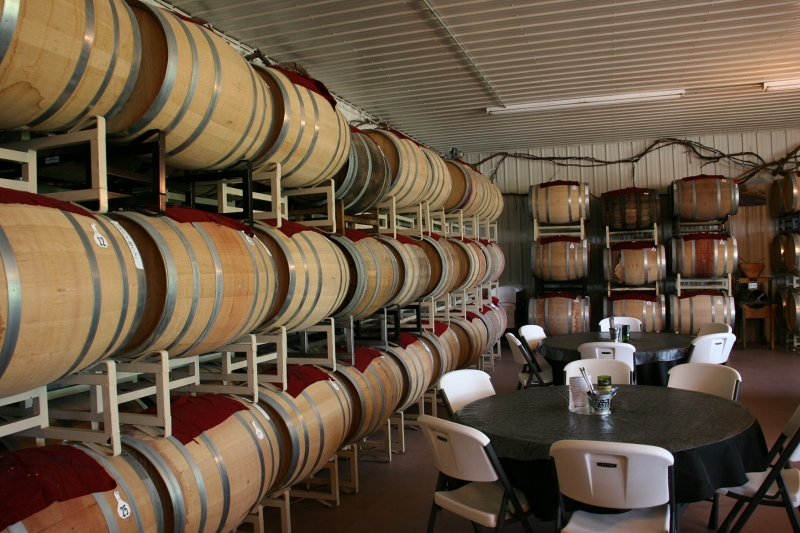 The wine is aged only in wooden barrels.