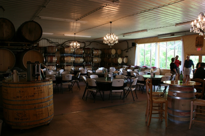 Love the ambiance of the chandeliers in the tasting room.