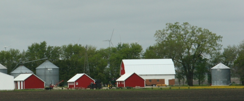 Between Iowa's northern border and Clear Lake, west side of I-35.