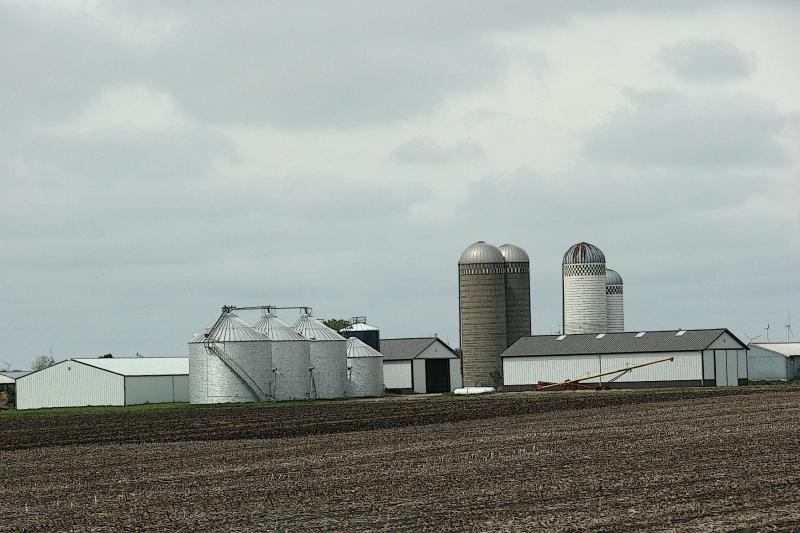A farm site just across the Minnesota-Iowa border on the west side of Interstate 35.