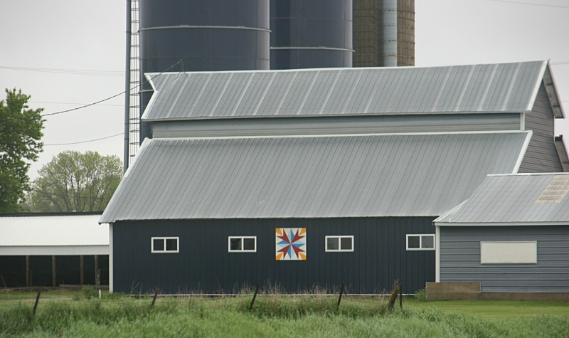 Iowa is known for its barn quilts and I spotted several, including this one near Garner.
