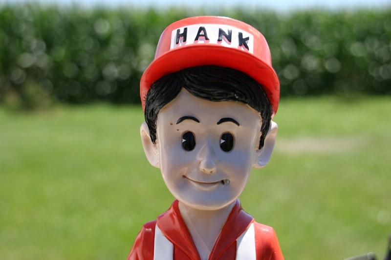 A Hardware Hank statue.