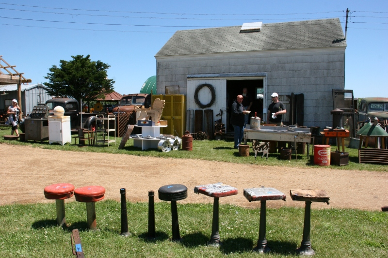 The farm yard and buildings overflow with vintage finds.