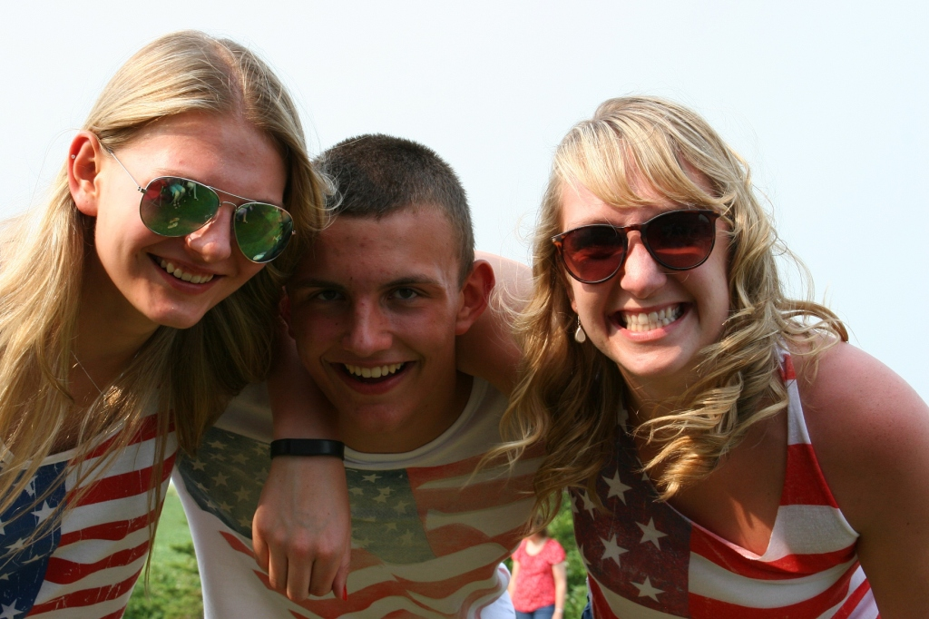 Two of my nieces and a nephew were among those gathered in rural Lamberton on the Fourth of July.