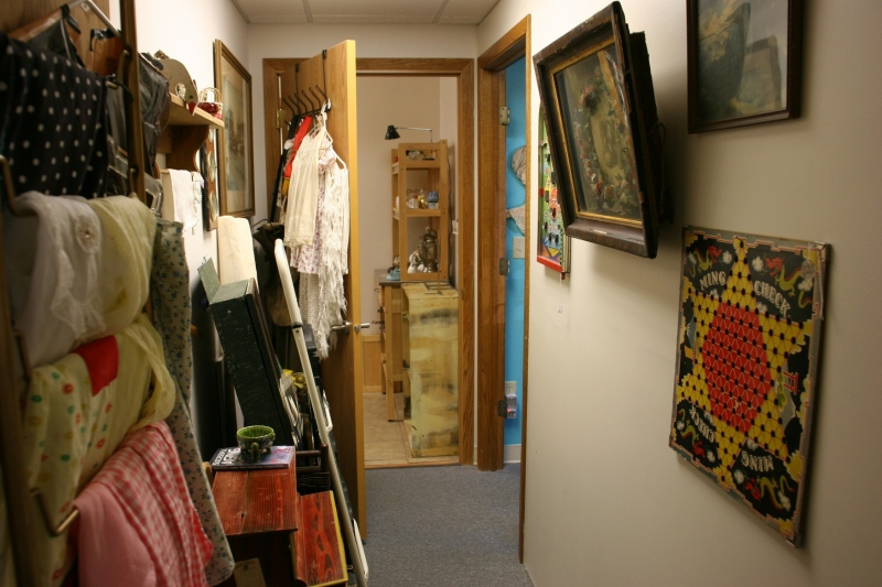 Audre's Attic, hallway displays