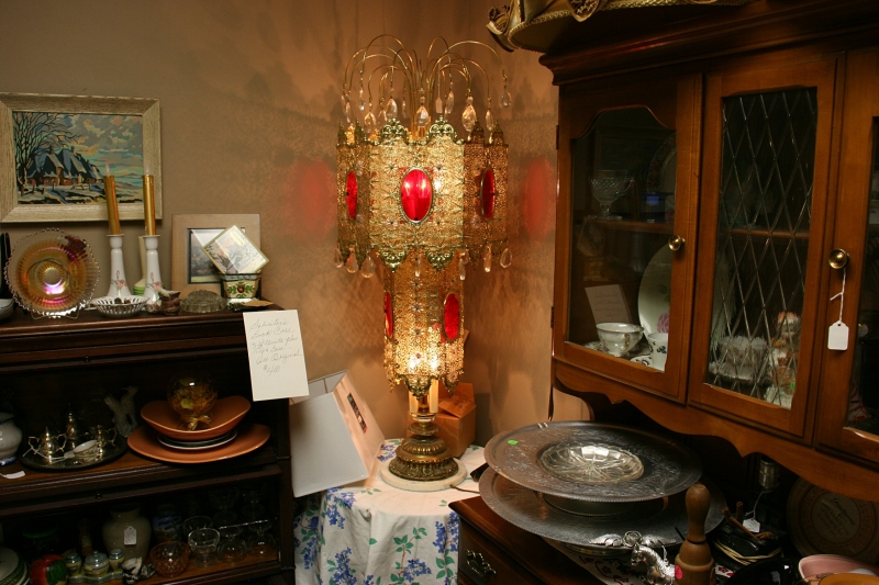 The lamp Audre claims would suit a bordello. She's selling it on consignment for a friend.