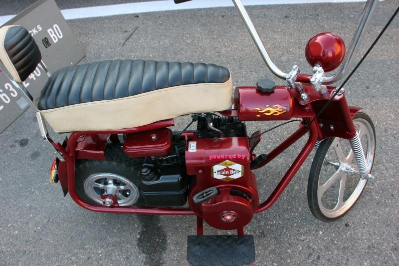 The Grain Belt powered mini bike.