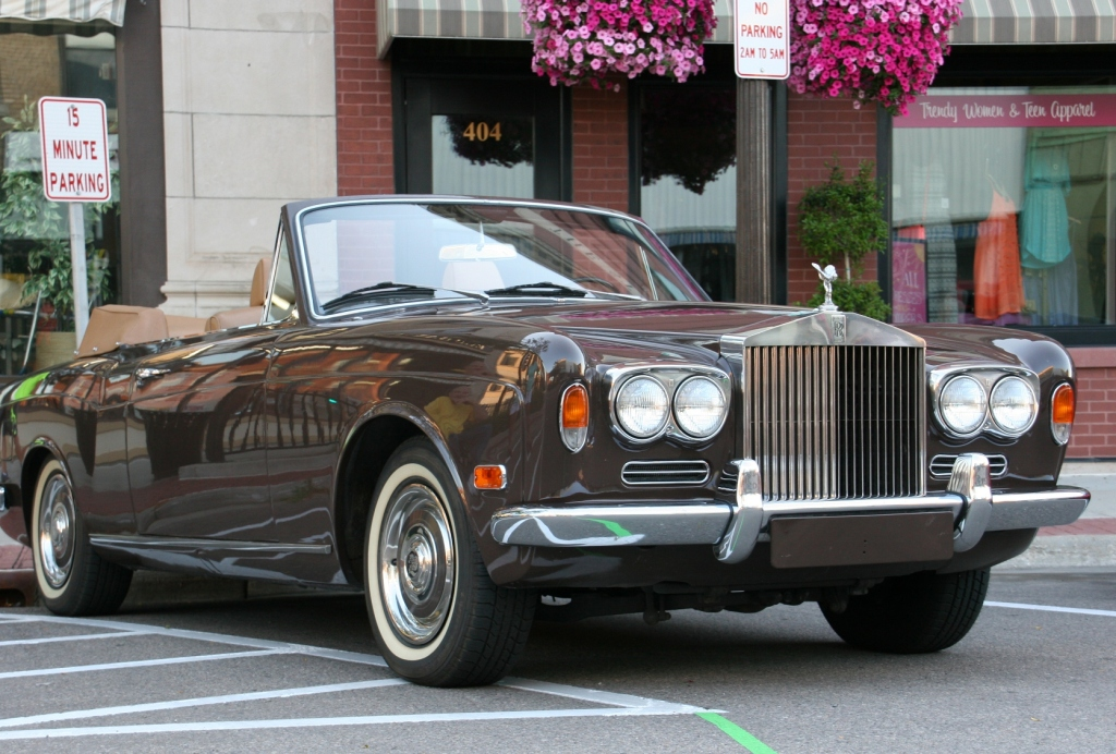 The Rolls Royce parked in downtown Faribault Friday evening for the Car Cruise.