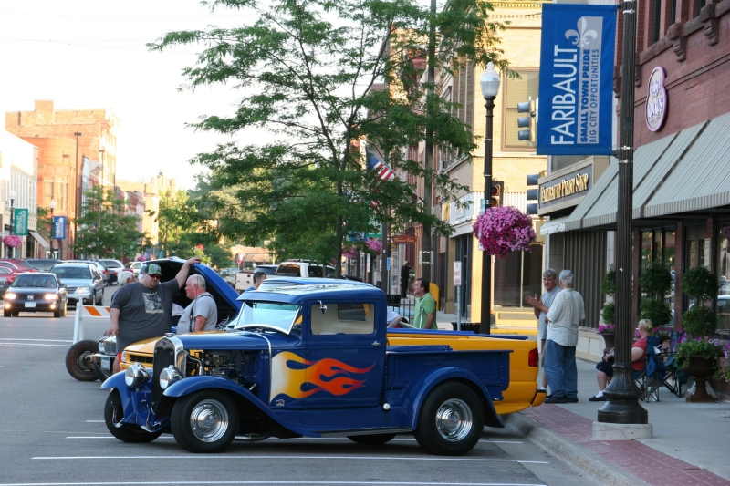 A scene from the July 17 Faribault Car Cruise Night.