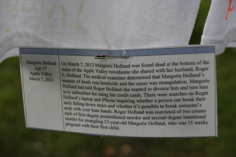 Clothesline Project, info about Margie