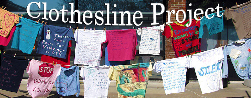 A display from The Clothesline Project. Image from The Clothesline Project website.