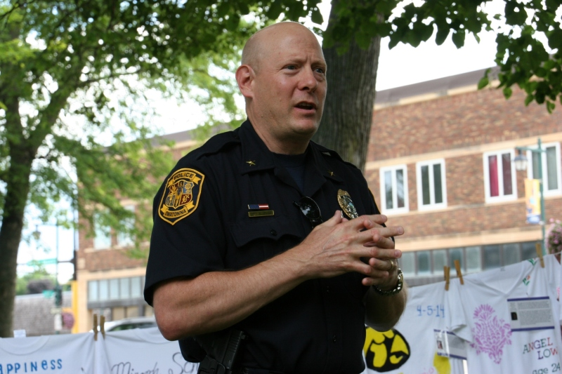 Owatonna Police Chief Keith Hiller addresses the topic of domestic violence.