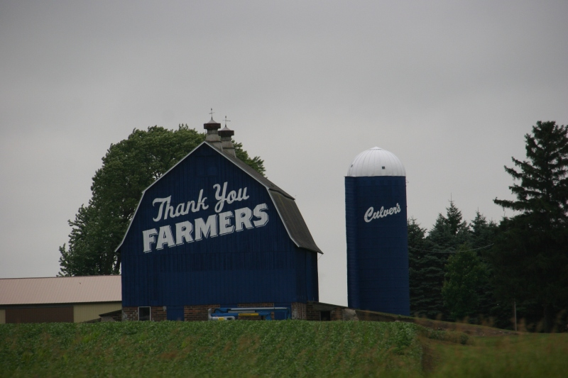 The Culver's barn along Interstate 35, photographed early Thursday afternoon.