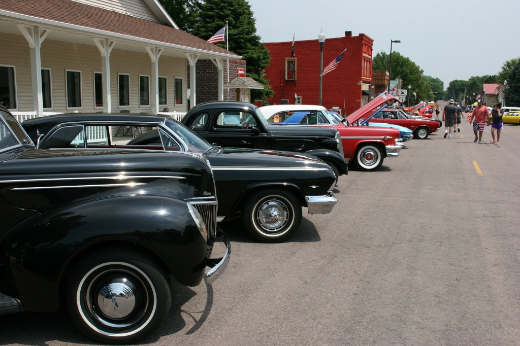 Another view of the car show.