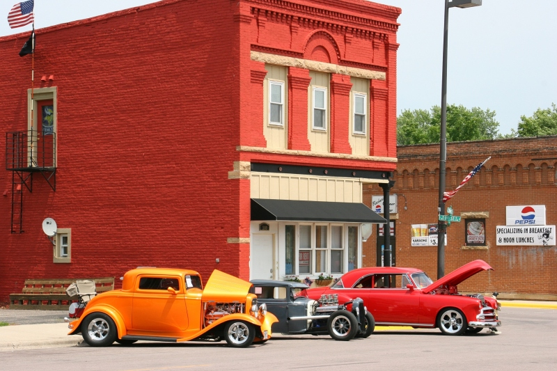 Vintage vehicles lined several blocks of Elysian's Main Street for the 21st annual Car, Motorcycle and Tractor Show on Sunday, July 5.